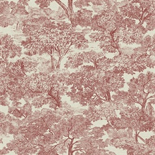Blyth Red Toile Wallpaper