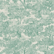 Blyth Teal Toile Wallpaper