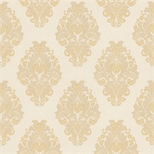 Bromley Beige Satin Damask