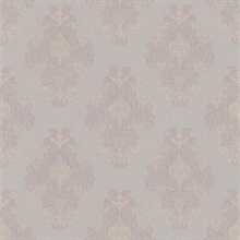 Bromley Mauve Satin Damask