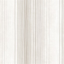 Brown and Taupe Random Stripe Prepasted Wallpaper