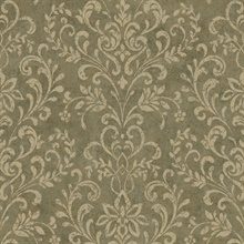 Brown Country Damask