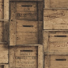Brown Distressed Wood Crates