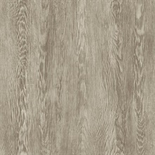 Brown Quarter Sawn Faux Wood Wallpaper