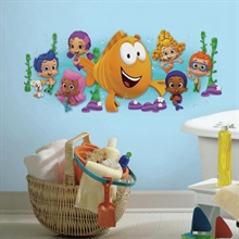 Bubble Guppies Character Giant Wall Decal