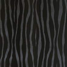 Burchell Black Zebra Velvet Textured Wallpaper