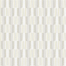 Burgen Grey Geometric Boho Linen Stripe Wallpaper