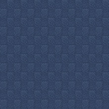 Calabash Navy Blue Rope Basketweave Wallpaper