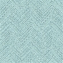 Caladesi Aqua Faux Textured Linen Wallpaper