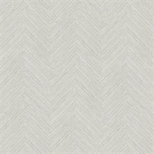 Caladesi Light Grey Faux Textured Linen Wallpaper