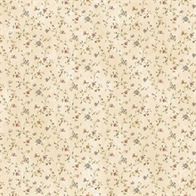 Calico White Busy Floral Toss Wallpaper