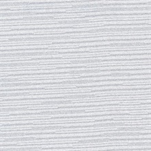 Calloway Silver Horizontal Stripes Commercial Wallpaper