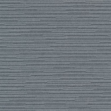 Calloway Slate Grey Horizontal Stripes Commercial Wallpaper