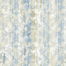 Camilia Blue Damask