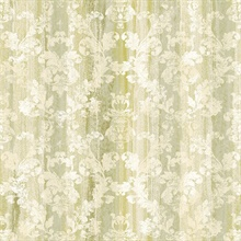 Camilia Green Damask