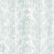 Camilia Light Blue Damask