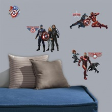 Captain America Civil War Peel and Stick Wall Decals