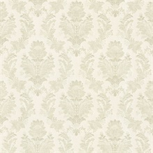 Capulet Light Green Silk Damask