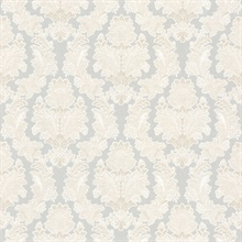 Capulet Light Grey Silk Damask