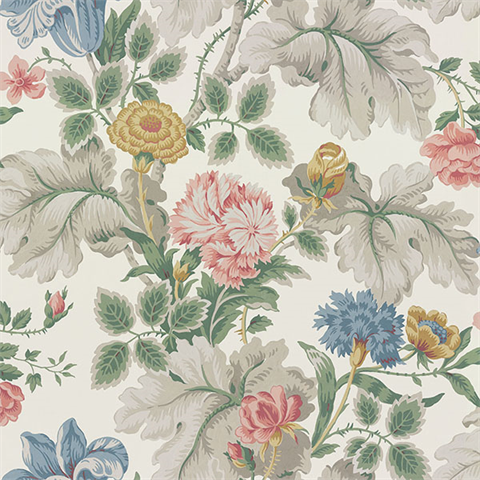 Carnation Garden Multicolor Floral Wallpaper