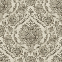 Carnegie Black Damask