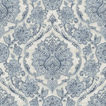 Carnegie Blue Damask