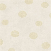 Caro Eggshell Polka Dots Wallpaper