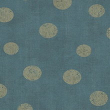 Caro Teal Polka Dots Wallpaper