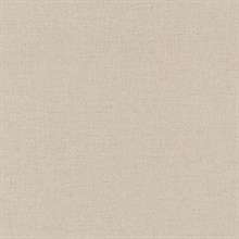 Carroll Beige Canvas Texture Wallpaper