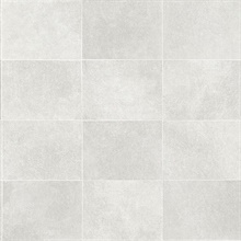 Cecelia Light Grey Faux Tile Wallpaper