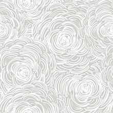 Celestial Grey Floral Wallpaper