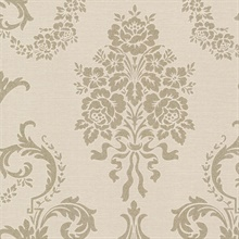 Chambers Champagne Floral Damask Wallpaper