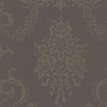 Chambers Espresso Floral Damask Wallpaper