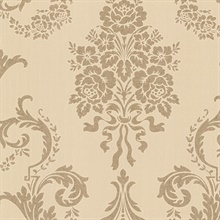 Chambers Gold Floral Damask Wallpaper
