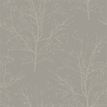 Champagne Glass Bead Frozen Branches Wallpaper