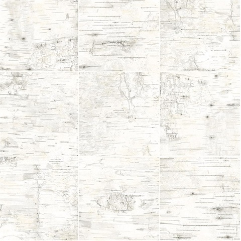 Champlain Off-White Grid Wood