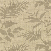 Chandler Khaki Botanical Faux Grasscloth Vinyl Wallpaper