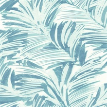 Chaparral Aqua Fronds Wallpaper