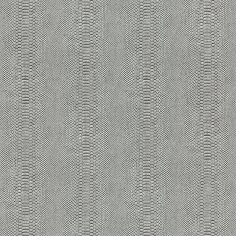 Charcoal Charcoal & Black Cobra Snakeskin Wallpaper