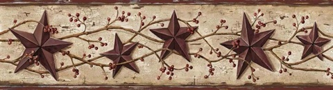 Cherry Heritage Tin Star Border