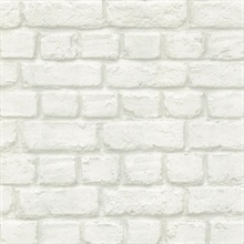 Chicago Dove Brick Textured Wallpaper