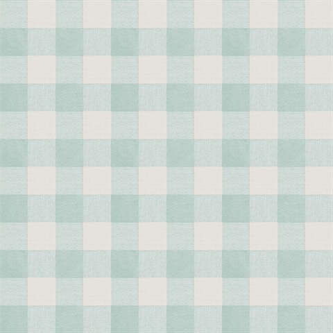 Claire Aqua Gingham Wallpaper