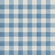 Claire Blue Gingham Wallpaper