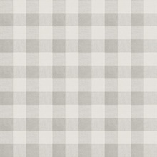 Claire Grey Gingham Wallpaper