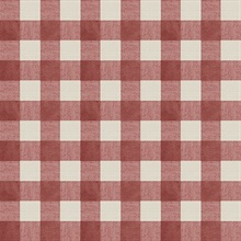 Claire Red Gingham Wallpaper
