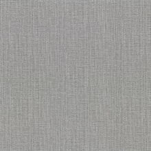 Claremont Silver Faux Grasscloth Vinyl Wallpaper