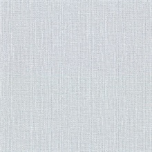 Claremont Sky Blue Faux Grasscloth Vinyl Wallpaper