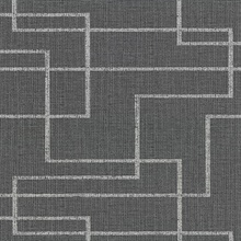 Clarendon Charcoal Geometric Faux Grasscloth Vinyl Wallpaper