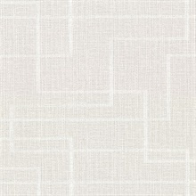 Clarendon Grey Faux Grasscloth Vinyl Wallpaper