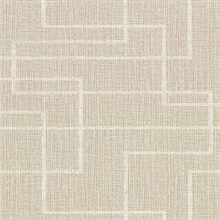 Clarendon Wheat Geometric Faux Grasscloth Vinyl Wallpaper